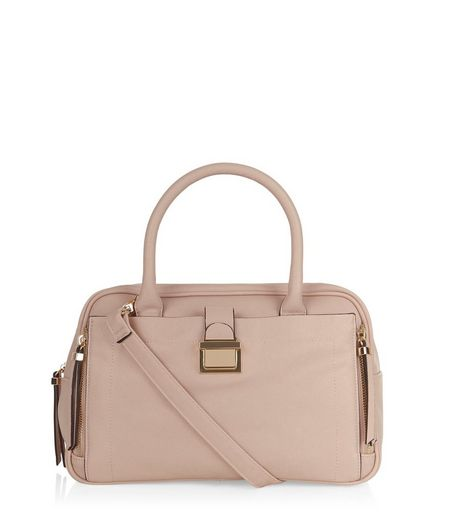 Stone Square Bowler Bag  | New Look