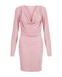Blue Vanilla Pink Cowl Neck Bodycon Dress | New Look