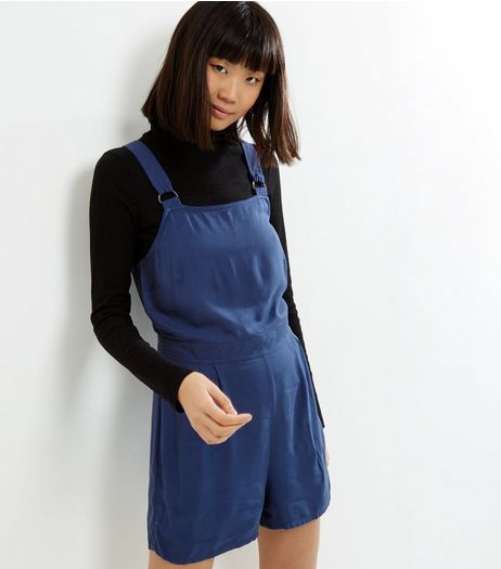 Blue Sleeveless Pinafore Playsuit  | New Look