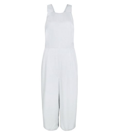 Pale Grey Culotte Jumpsuit | New Look