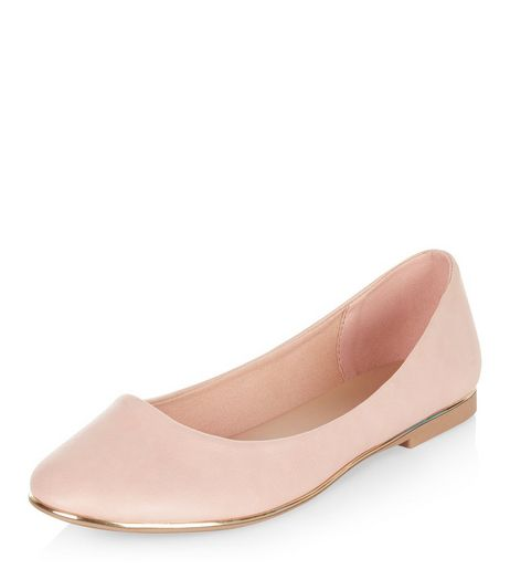 Pink Metal Bar Ballet Pumps  | New Look