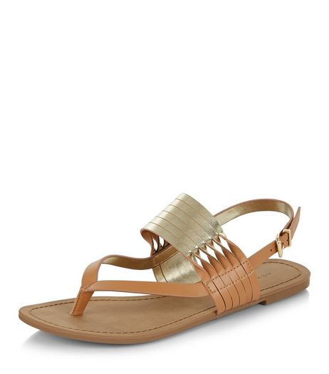 Tan Twist Strap Sandals  | New Look