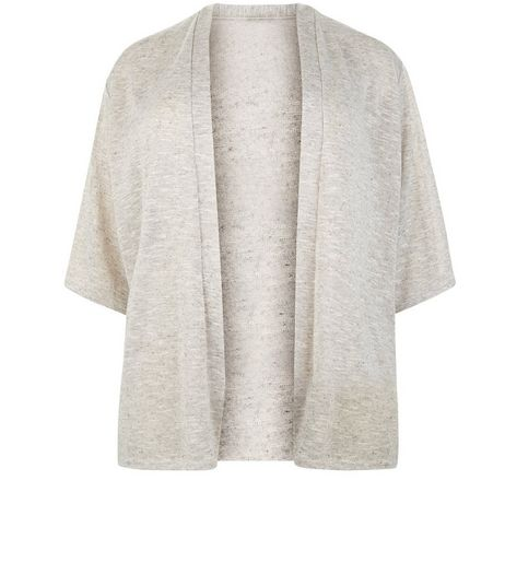 Curves Shell Pink 1/2 Sleeve Cardigan | New Look
