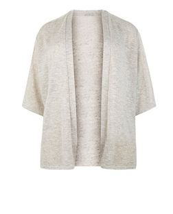 Plus Size Shell Pink 1/2 Sleeve Cardigan | New Look
