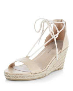 Stone Rope Ghillie Espadrille Wedges | New Look