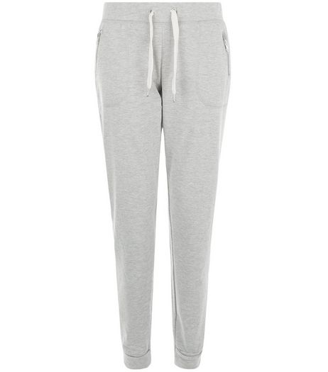 Grey Slim Fit Joggers  | New Look