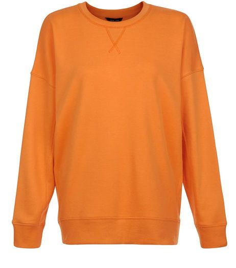 Orange Balloon Sleeve Sweater  | New Look