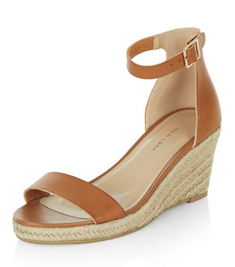 Tan Ankle Strap Espadrille Wedges  | New Look