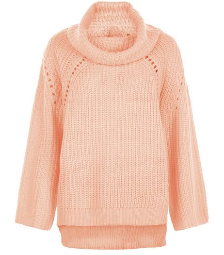 Blue Vanilla Pink Cowl Neck Jumper  | New Look