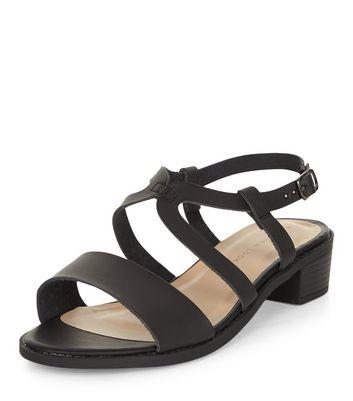 Sandalo  donna Wide Fit Black Cross Strap Sandals
