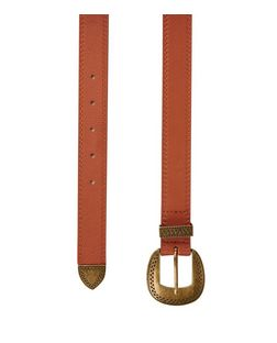 Tan Leather Western Jeans Belt  | New Look
