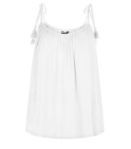 White Tie Strap Cami  | New Look