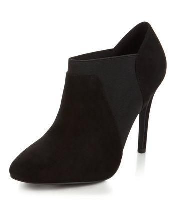 Black Suedette Chelsea Shoe Boots