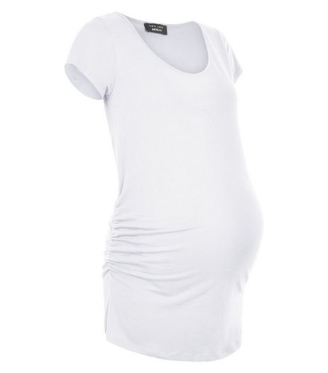 Maternity White Cap Sleeve Top | New Look