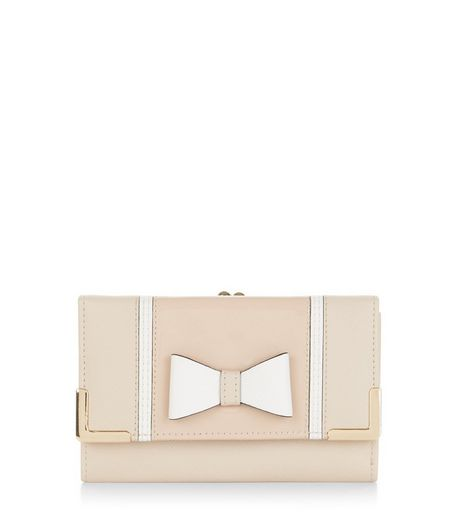 Stone Bow Front Clip Top Purse  | New Look