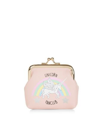 Pink Unicorn Fan Club Clip Top Coin Purse