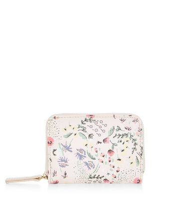 shell-pink-orchid-floral-print-zip-top-card-holder