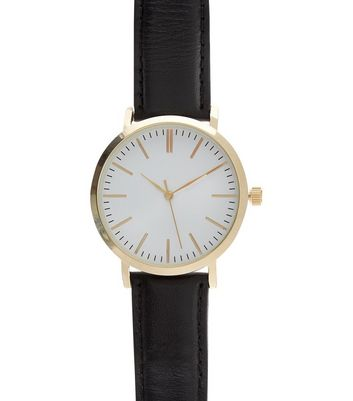 black-leather-strap-watch
