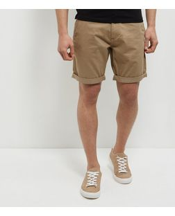 Produkt Stone Turn Up Shorts | New Look