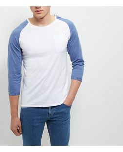 Produkt Blue Contrast 3/4 Sleeve Top | New Look