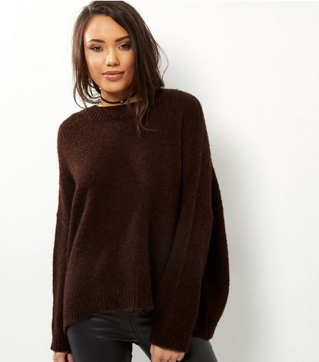 Brown Long Sleeve Jumper  | New Look