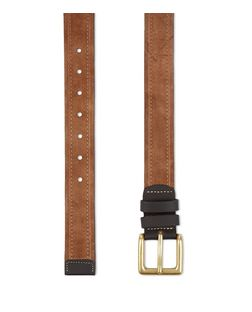 Tan Suede Contrast Trim Belt | New Look