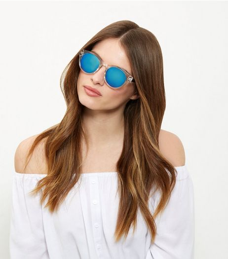 Clear Mirrored Sunglasses | New Look