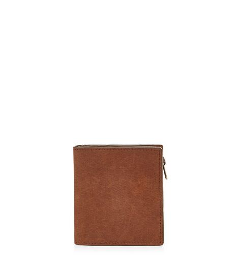 Tan Leather Zip Wallet | New Look