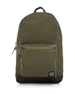 Khaki Pocket Front Backpack  | New Look