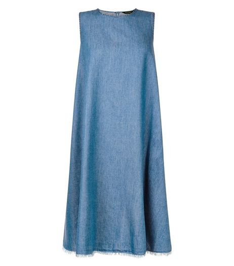 Blue Denim Sleeveless Swing Dress | New Look