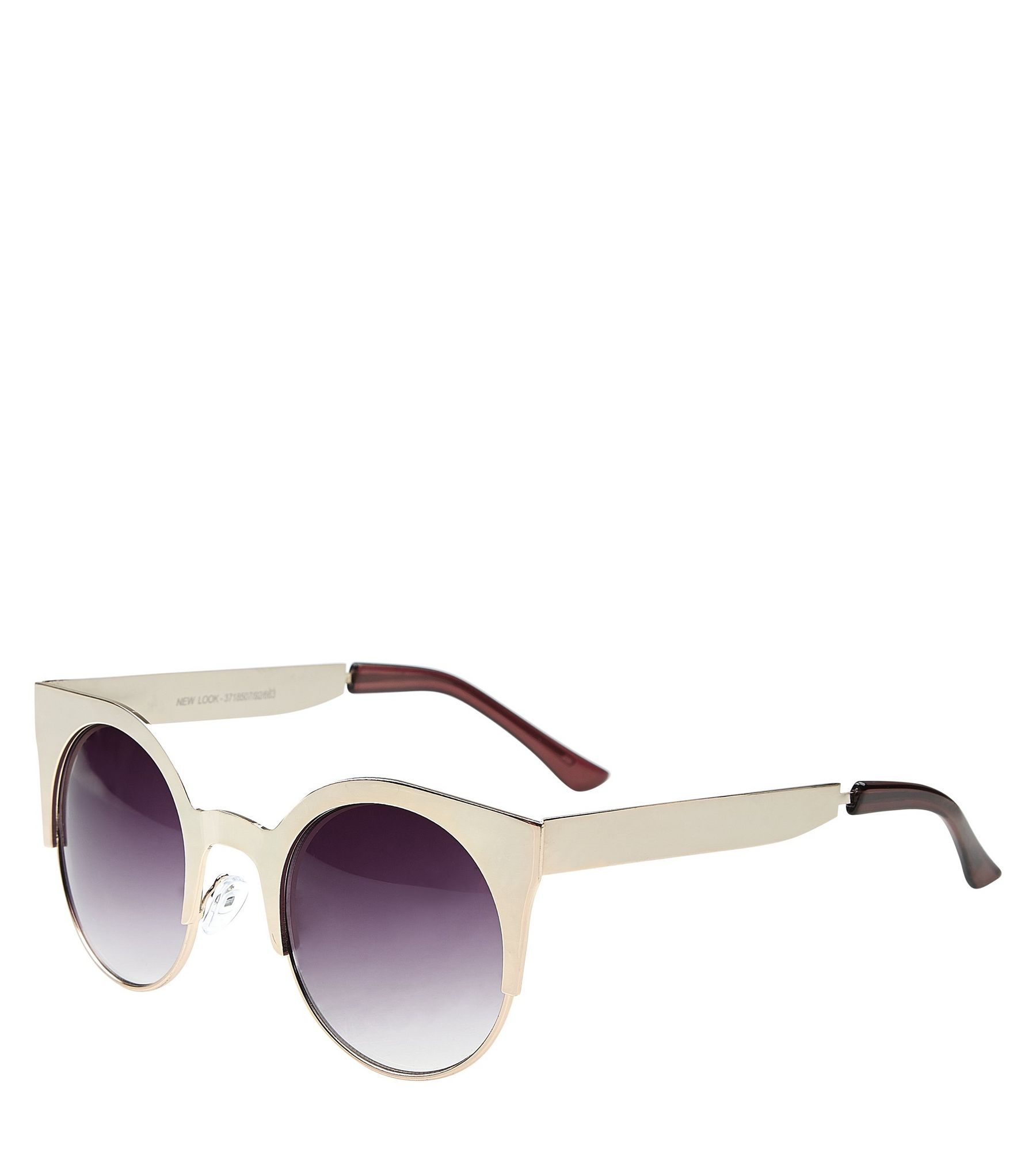 Silver Half Frame Sunglasses | New Look