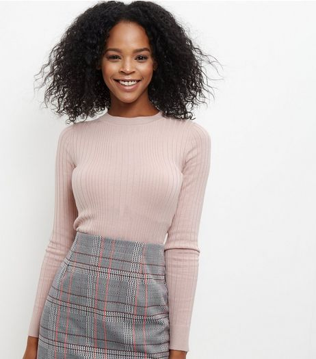 Pink Ribbed Jumper  | New Look