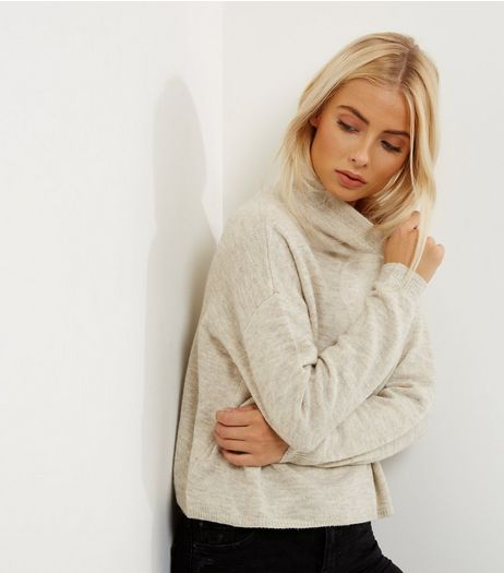 Cream Funnel Neck Cropped Jumper | New Look