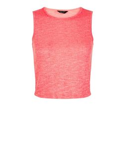 Teens Neon Pink Tank Top | New Look