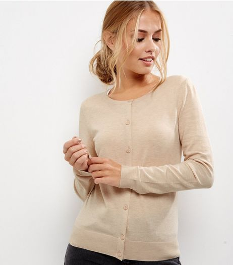 Light Brown Long Sleeve Cardigan | New Look