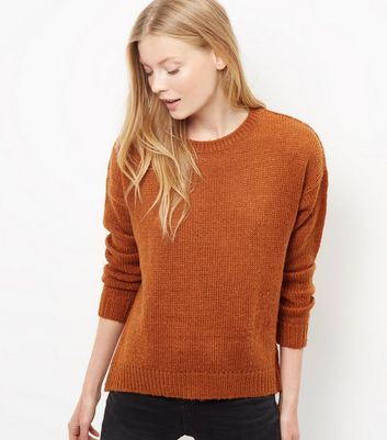 Product photo of Tan boxy jumper