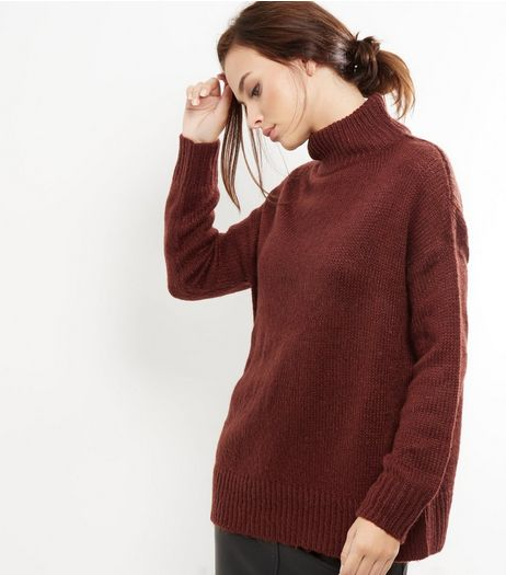 Brown Turtle Neck Jumper  | New Look