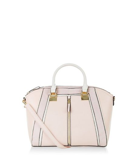 Pink Zip Panel Tote Bag  | New Look