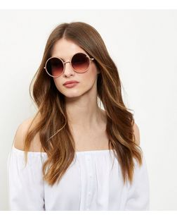 Pink Round Sunglasses  | New Look