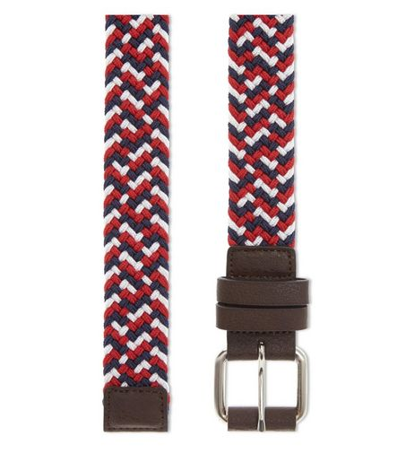 Red Woven Elasticated Belt | New Look