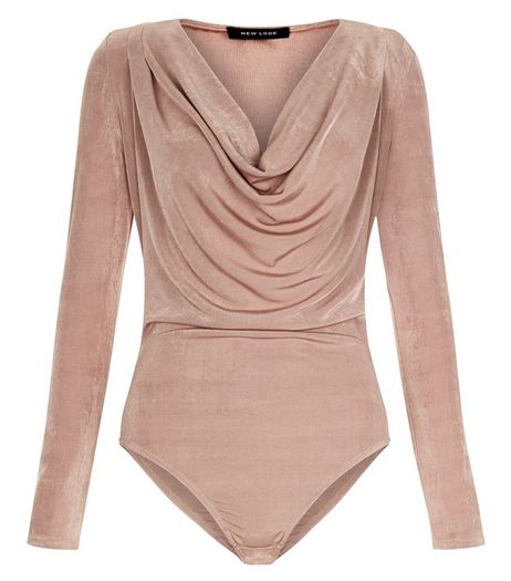 Pink Cowl Neck Long Sleeve Bodysuit | New Look