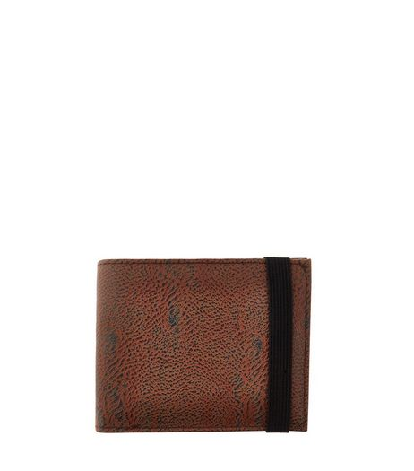 Brown Textured Elasticated Wallet  | New Look