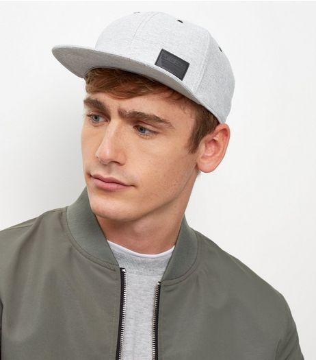 Pale Grey Twill Cap  | New Look