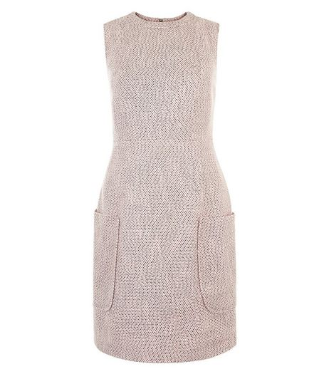 Pink Flecked Patch Pocket Sleeveless Dress  | New Look