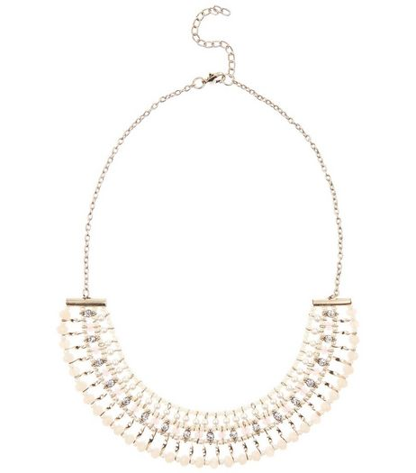 Pink Beaded Bar Necklace | New Look