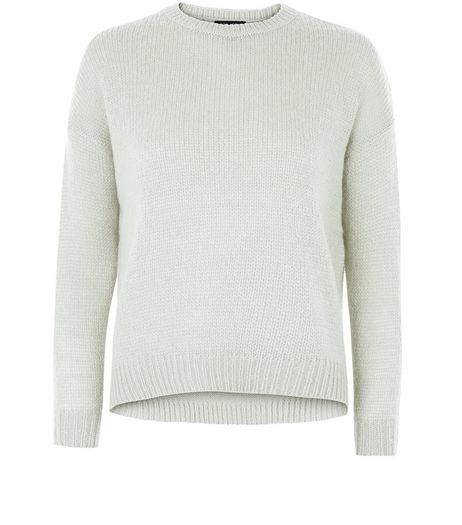 Petite Pale Grey Boxy Jumper | New Look