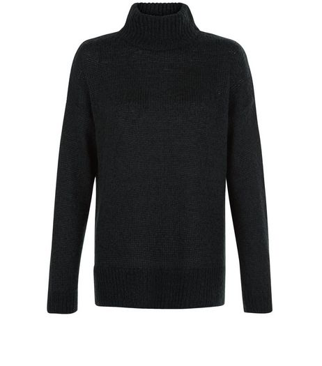 Tall Dark Green Ribbed Turtle Neck Jumper | New Look