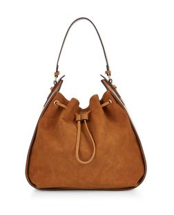 Tan Drawstring Shoulder Bag  | New Look
