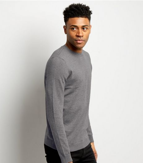 Grey Crew Neck Long Sleeve Top | New Look