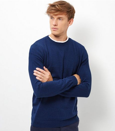 Blue Crew Neck Long Sleeve Top | New Look